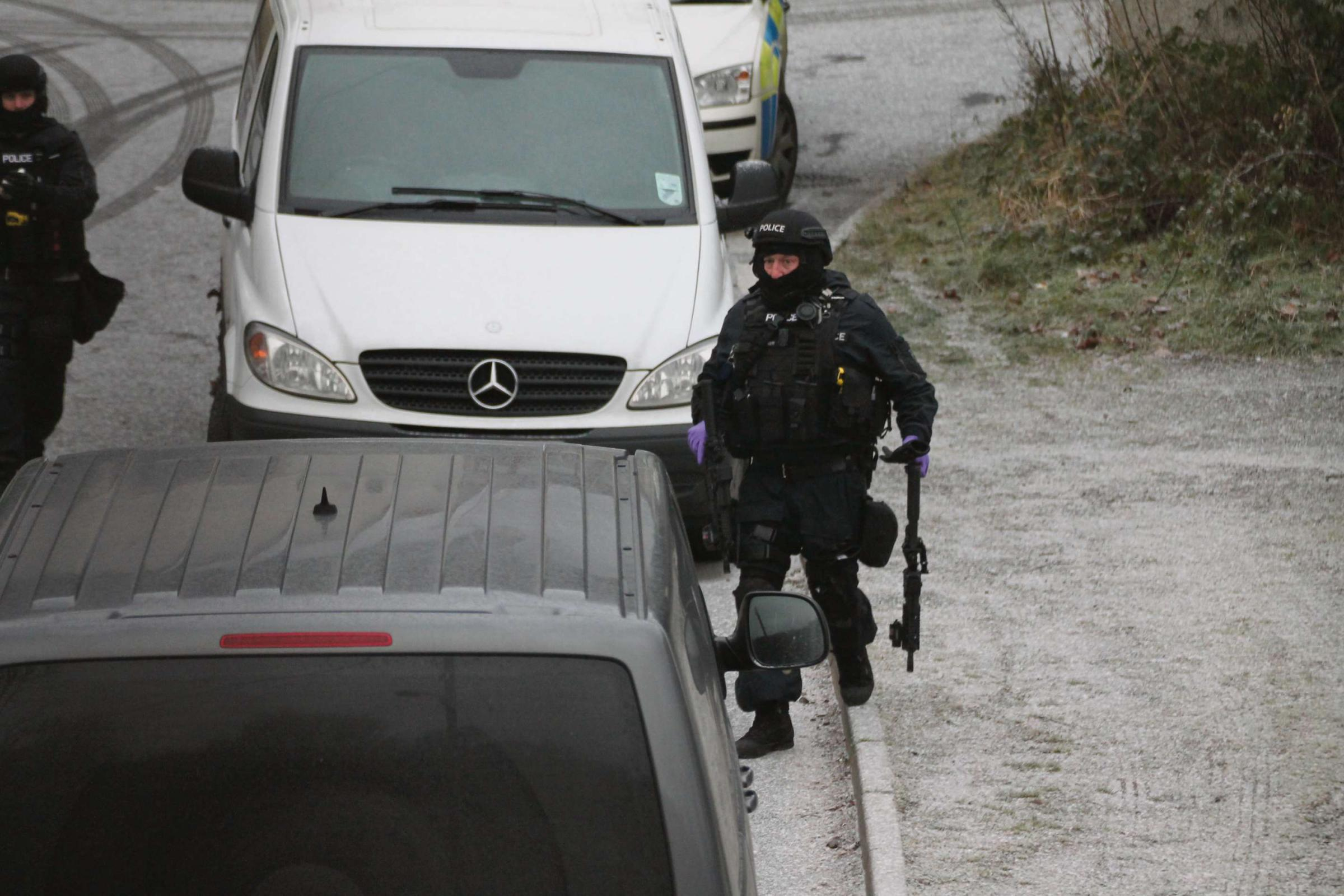 SIEGE SCENE: Leslie Watkins threatened police with a nail gun during a stand-off in Argoed in December, 2012