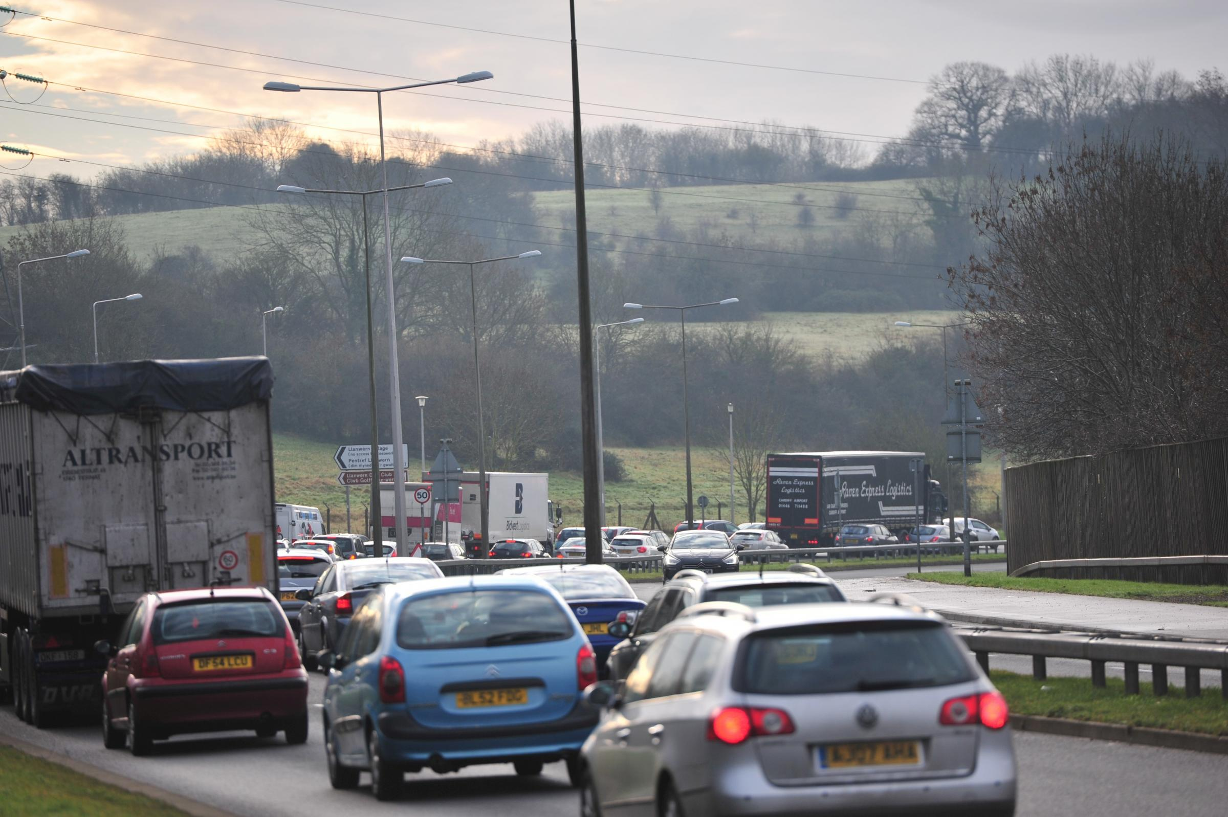 M4 crashes that have brought Newport to a standstill