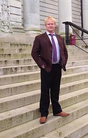 NOT GUILTY: Abergavenny businessman Andrew Woodhouse outside Cardiff Crown Court today