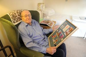 Risca WWII sailor honoured by 90th birthday naval visit