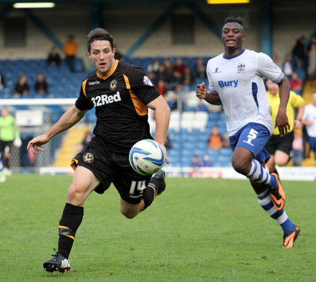 ALL THE BEST: Conor Washington departs with goodwill from Newport fans