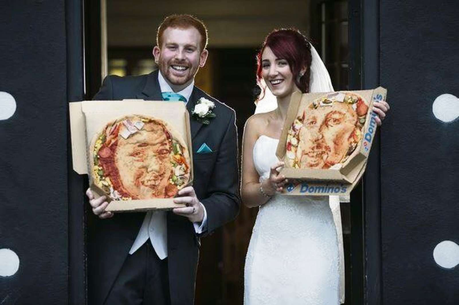Ebbw Vale artist gives wedding couple pizza portrait
