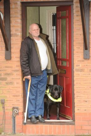 Granville Vaughan from Somerton fears he will have to give his guide dog Bow back as its unsafe for his dog
