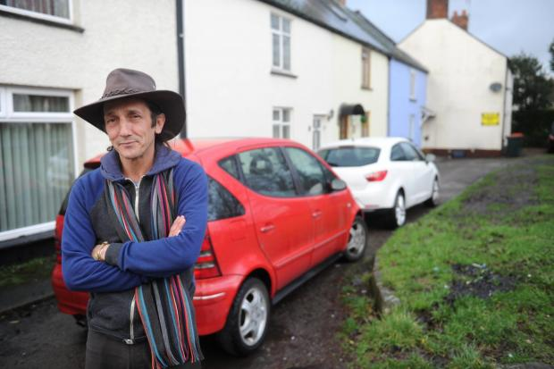 South Wales Argus: Goldcroft Common resident Mark Lewis is complaining about the lack of consultation by Newport Council to the problems of parking in the area (3689120)