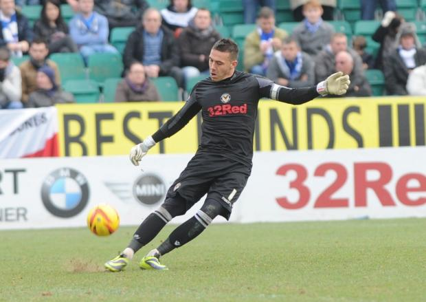 TOP STOPPER: Exiles goalkeeper Lenny Pidgeley