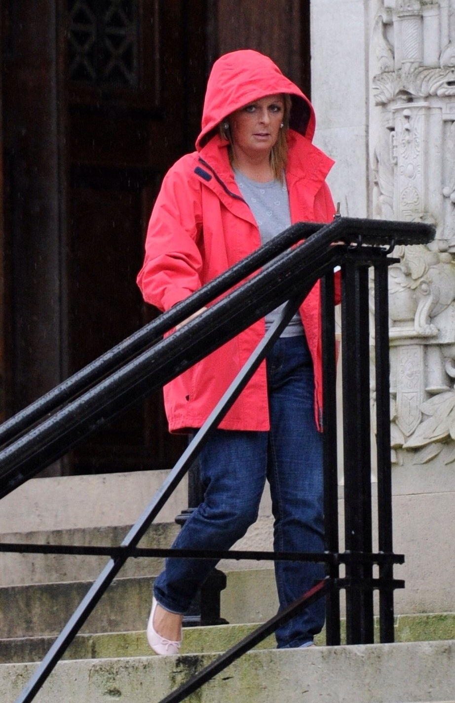 Katie Stroud leaving Cardiff Crown Court