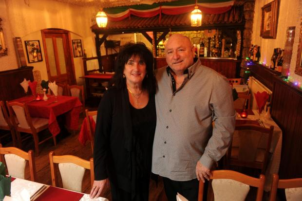 South Wales Argus: Brian and Christine Lloyd of Chez Giovanni, Clarence Place, Newport (3718771)