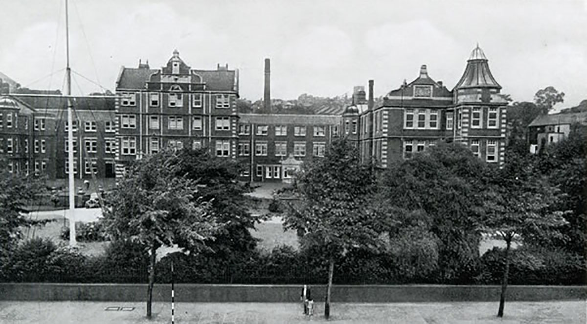 NOW AND THEN: Royal Gwent Hospital in Newport