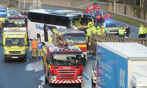APPEAL: Gwent Police have appealed for witnesses to the coach crash on the M4 in Newport