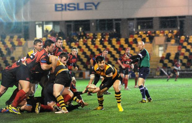 South Wales Argus: BALL'S GONE: Newport scrum half James Leadbeater in action against Aberavon