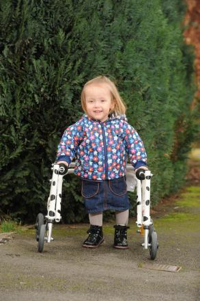 Imogen Ashwell-Lewis aged 2 from Caldicot has cerebal palsy spastic diplegia and her mum Catherine Ashwell-Rice is fundraising to raise £40,000 to fund a pioneering operation (3779282)