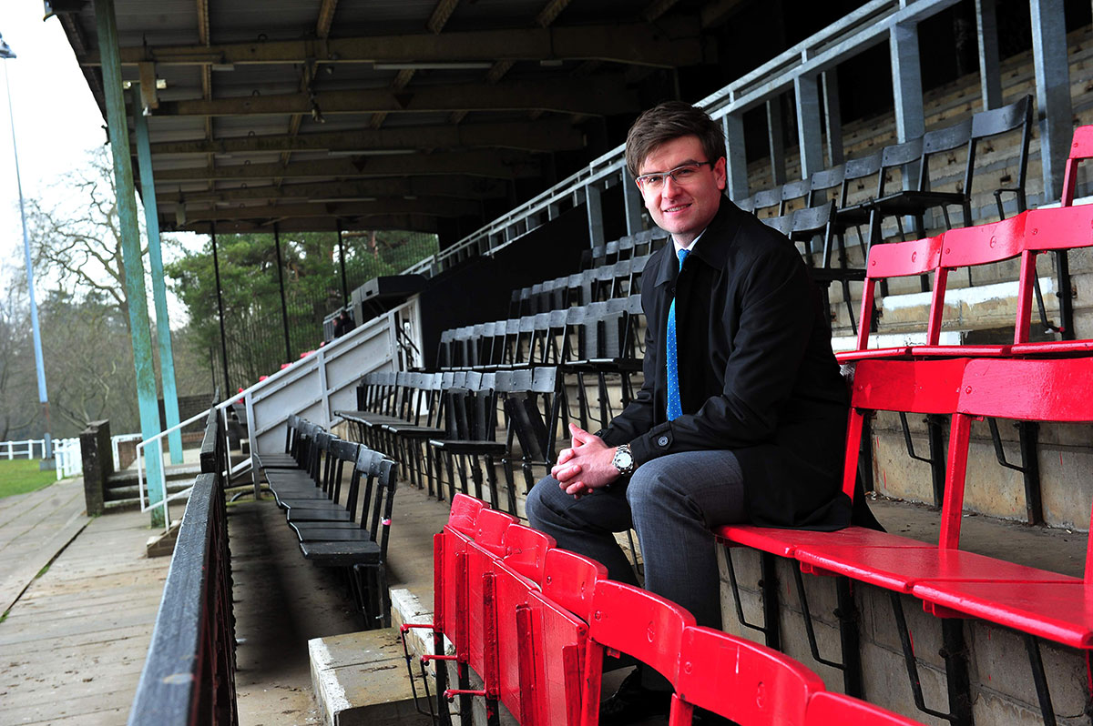 STRATEGY: Pontypool RFC's corporate director Ben Jeffreys at Pontypool Park