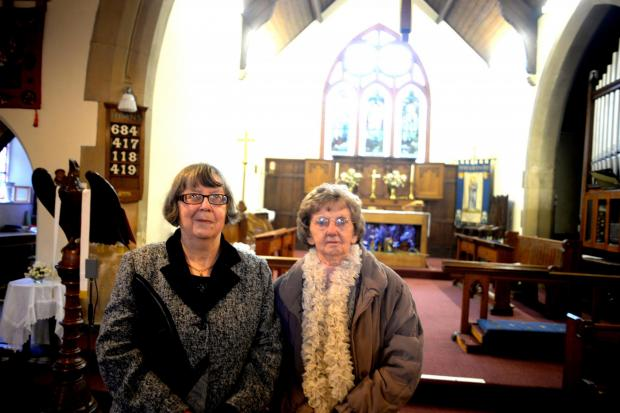 ALL SAINTS CHURCH  Due for posssible closure. The church was built in 1905 in Hanbury Road, nr Pontnewynydd. Pictured are Christine Gittings, (lt), and Valda Prosser (3482746)