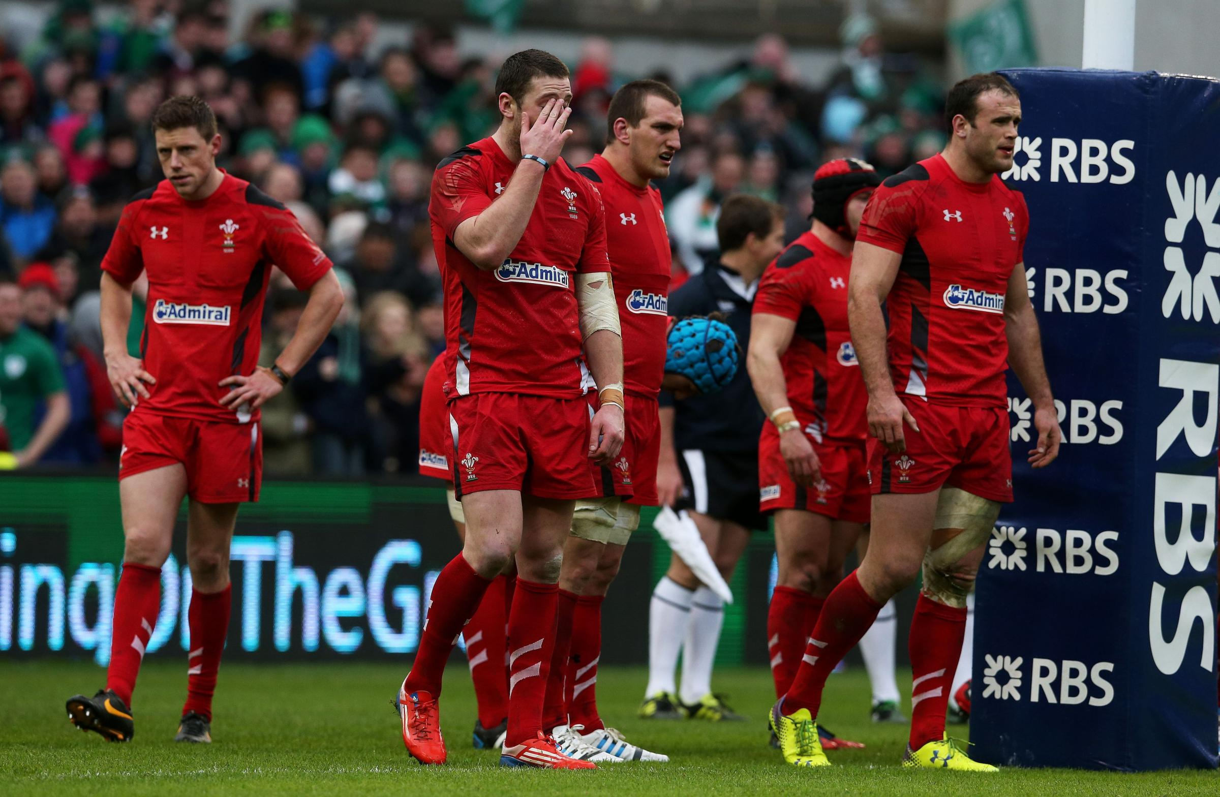 WHAT A SHOCKER: Wales were humiliated at the Aviva Stadium by a rampant Ireland