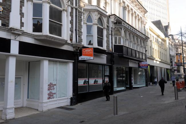 Commercial Street in Newport which had the second highest number of empty shops in the UK in 2014.