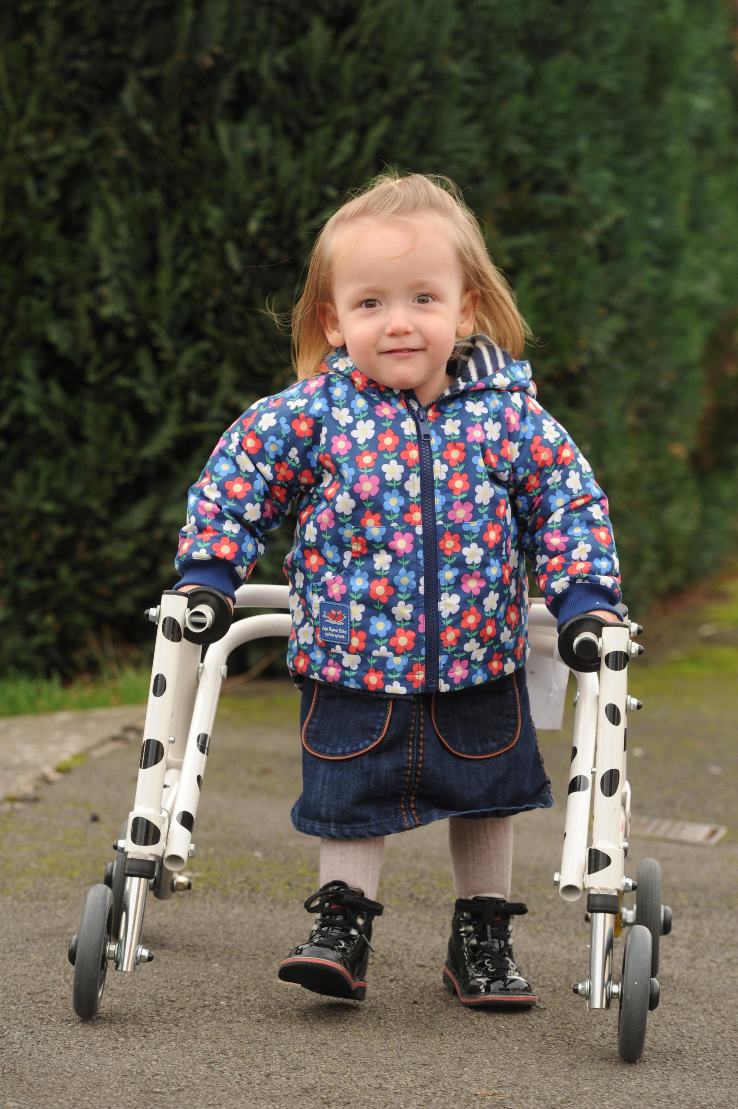 Imogen Ashwell-Lewis aged 2 from Caldicot has cerebal palsy spastic diplegia and her mum Catherine Ashwell-Rice is fundraising to raise £40,000 to fund a pioneering operation (3779288)