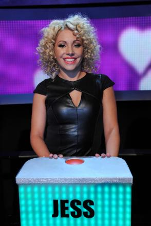NO DATE: Jess Whatmore on the ITV1 dating show Take Me Out.  Photo: ITV