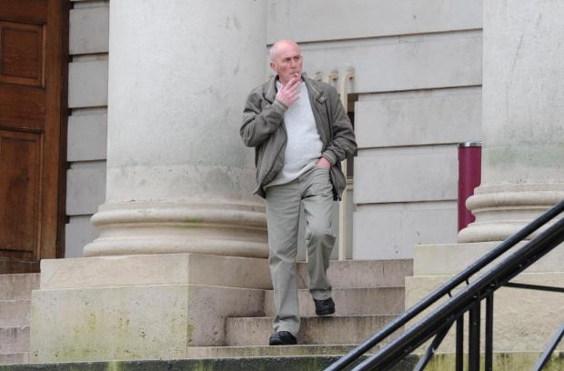 South Wales Argus: Pictured arriving at Cardiff Crown Court is Stephen Watkins up for fraud by abuse of position, when £50,000 was stolen from his mother. (4015038)