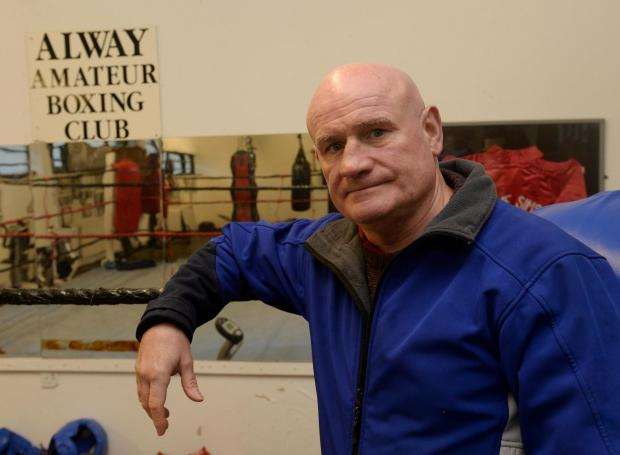 South Wales Argus: Alway Amateur Boxing Club was broken into overnight on Tuesday and a cash tin with £150 in it was taken. Pictured is Steve Sims in his boxing gym. (4010688)