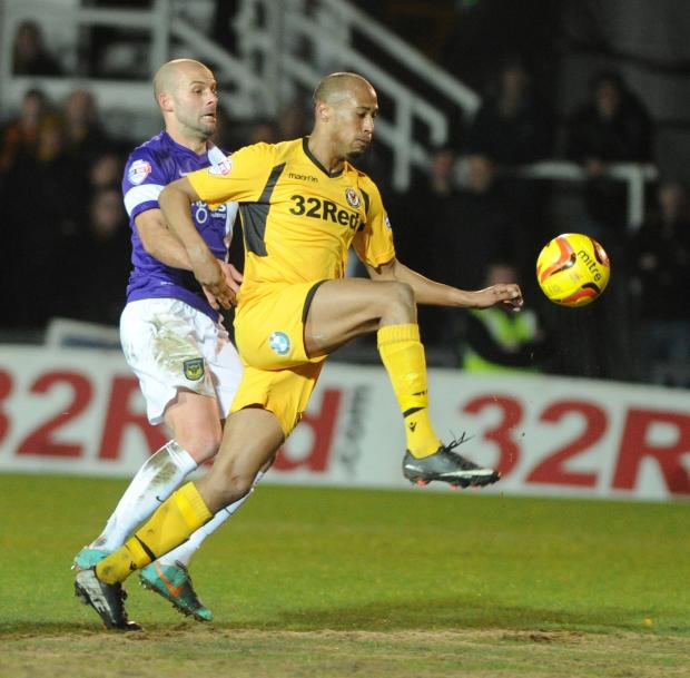 South Wales Argus: INTO SPACE: Newport County's Chris Zebroski beats Oxford's David Hunt