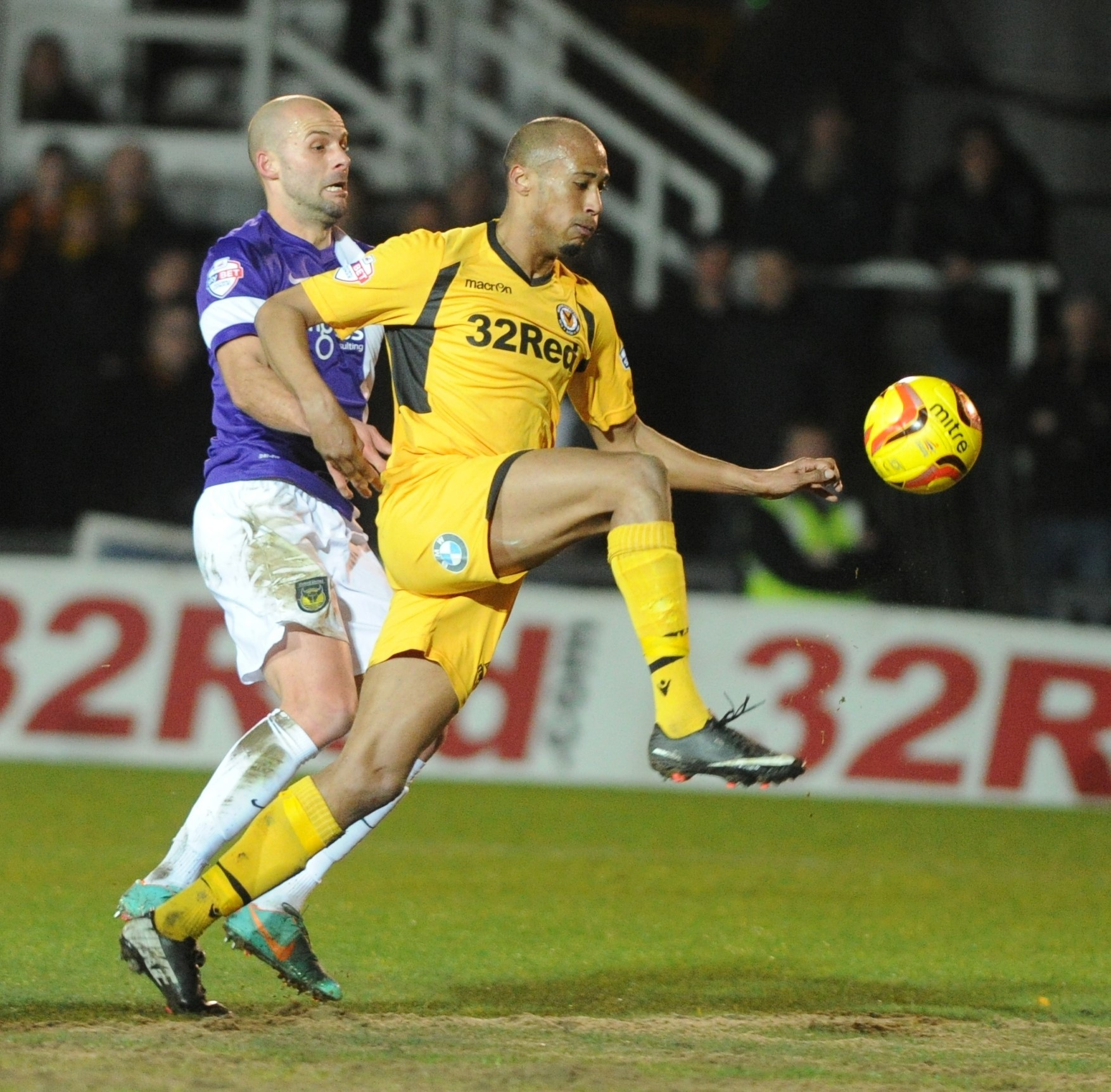 INTO SPACE: Newport County's Chris Zebroski beats Oxford's David Hunt