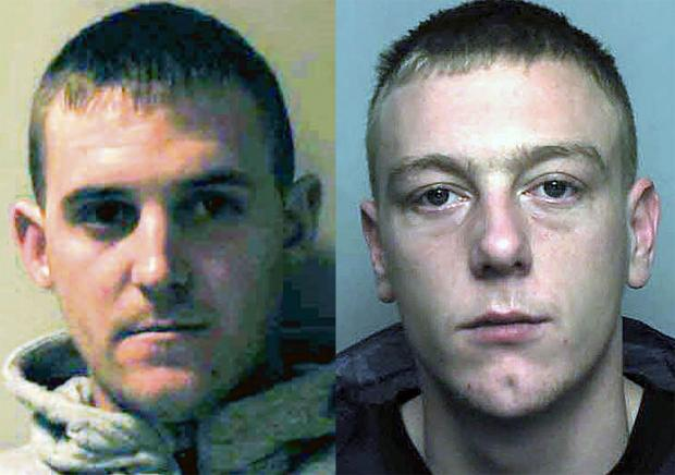 JAILED: Daniel Fry, left and Steven James