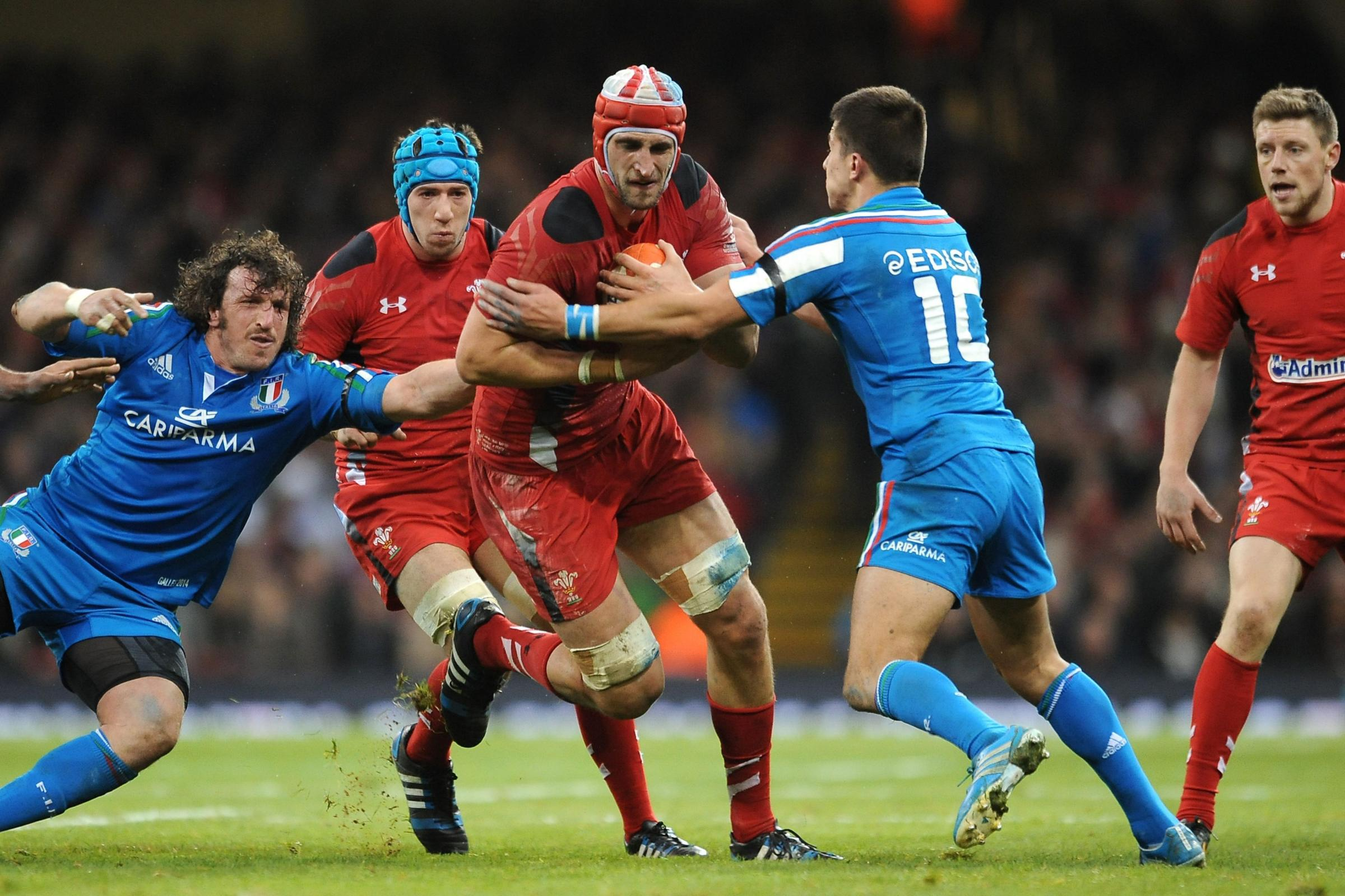 TARGET: Luke Charteris moved to Racing Metro from Perpignan rather than back to Wales
