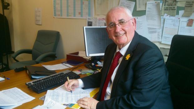 South Wales Argus: Islwyn AM Gwyn Price in his Assembly office in Cardiff