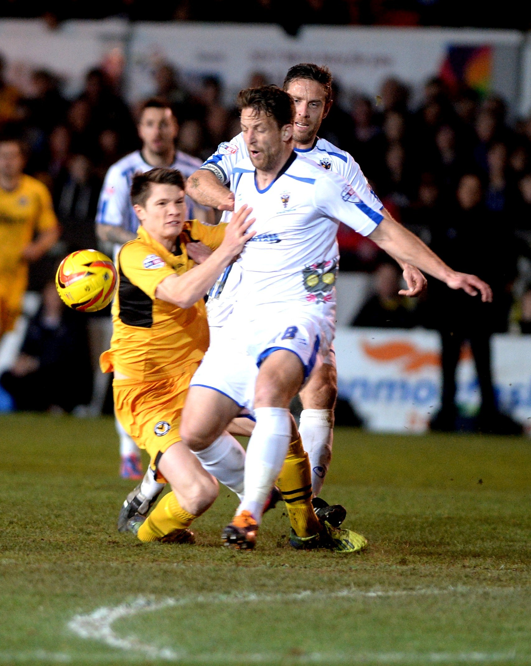 TAKEN DOWN: Newport County's Ryan Burge