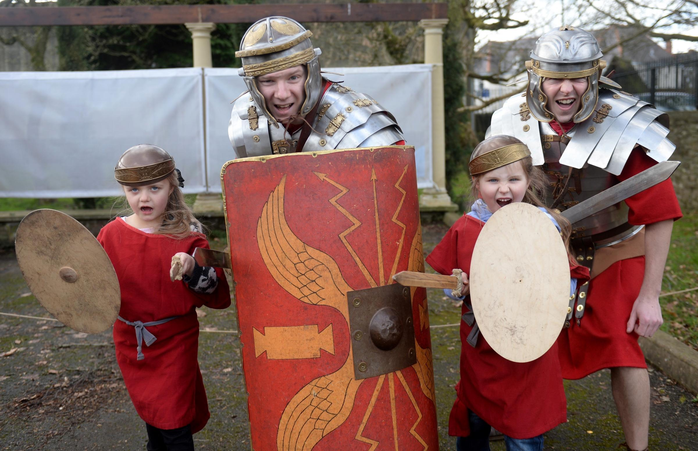 Children become Roman soldiers at Caerleon