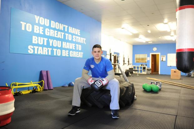 Leon Goodman is an accomplished boxer and has recently started his own strength and conditioning gym after completing his sports degree.  Pictured is Leon inside his Functional Fitness gym on Commercial Street, Newport. (4244025)