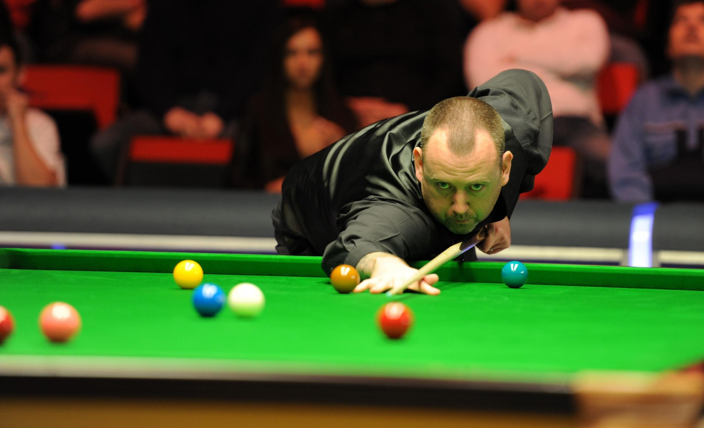 GWENT STAR: Cwm's Mark Williams in action in Newport at the 2014 Welsh Open in February