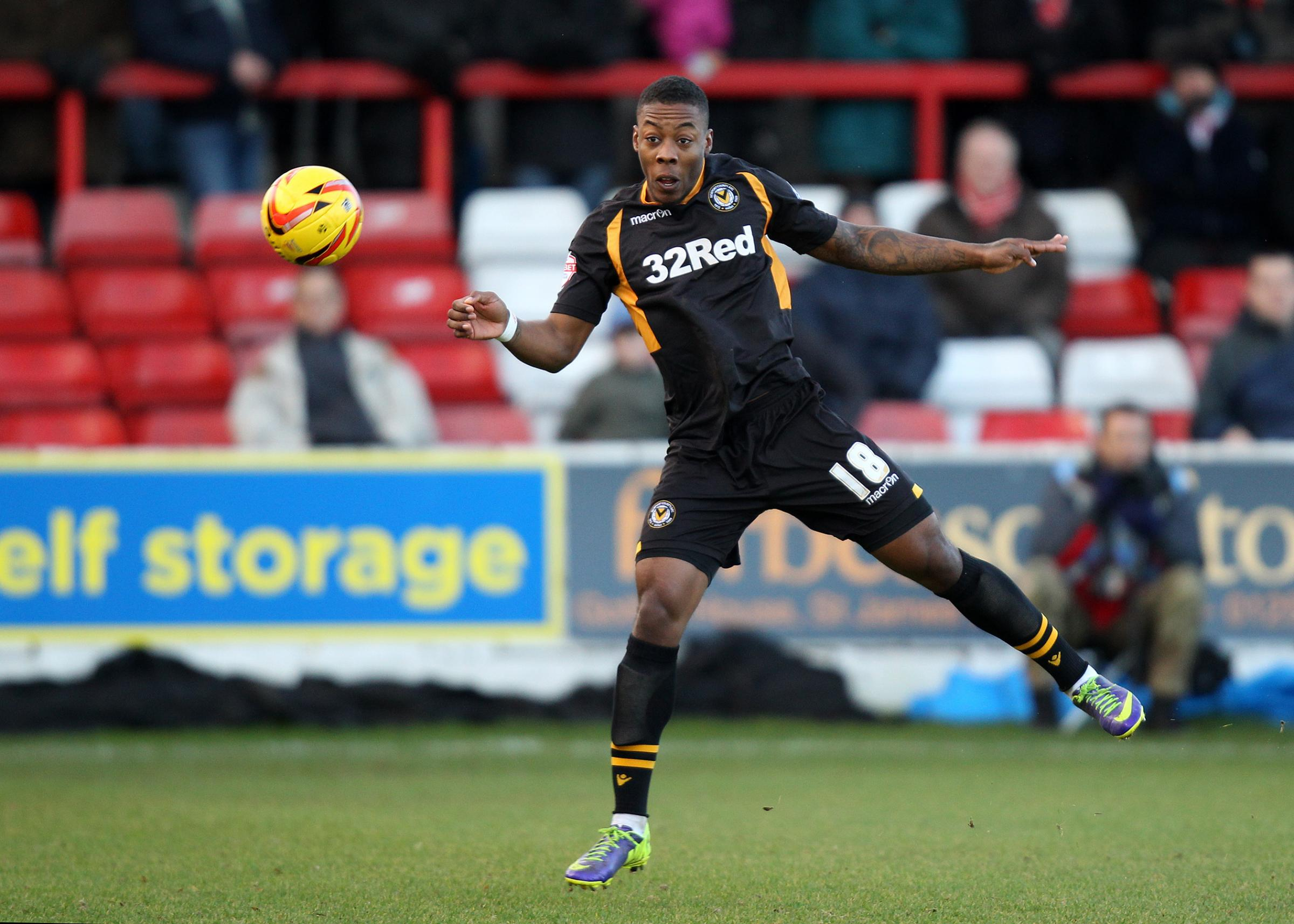 .Ryan Jackson of Newport County  .during the  skybet