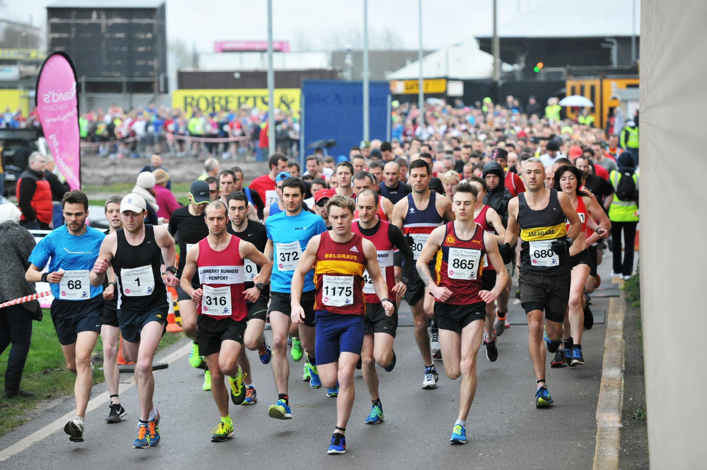 PICTURES: Carnival atmosphere as 1,200 run Newport half marathon