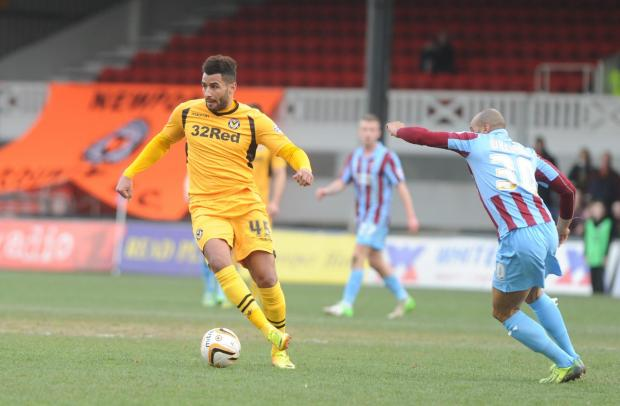 South Wales Argus: POSITIVE: Exiles striker Rene Howe