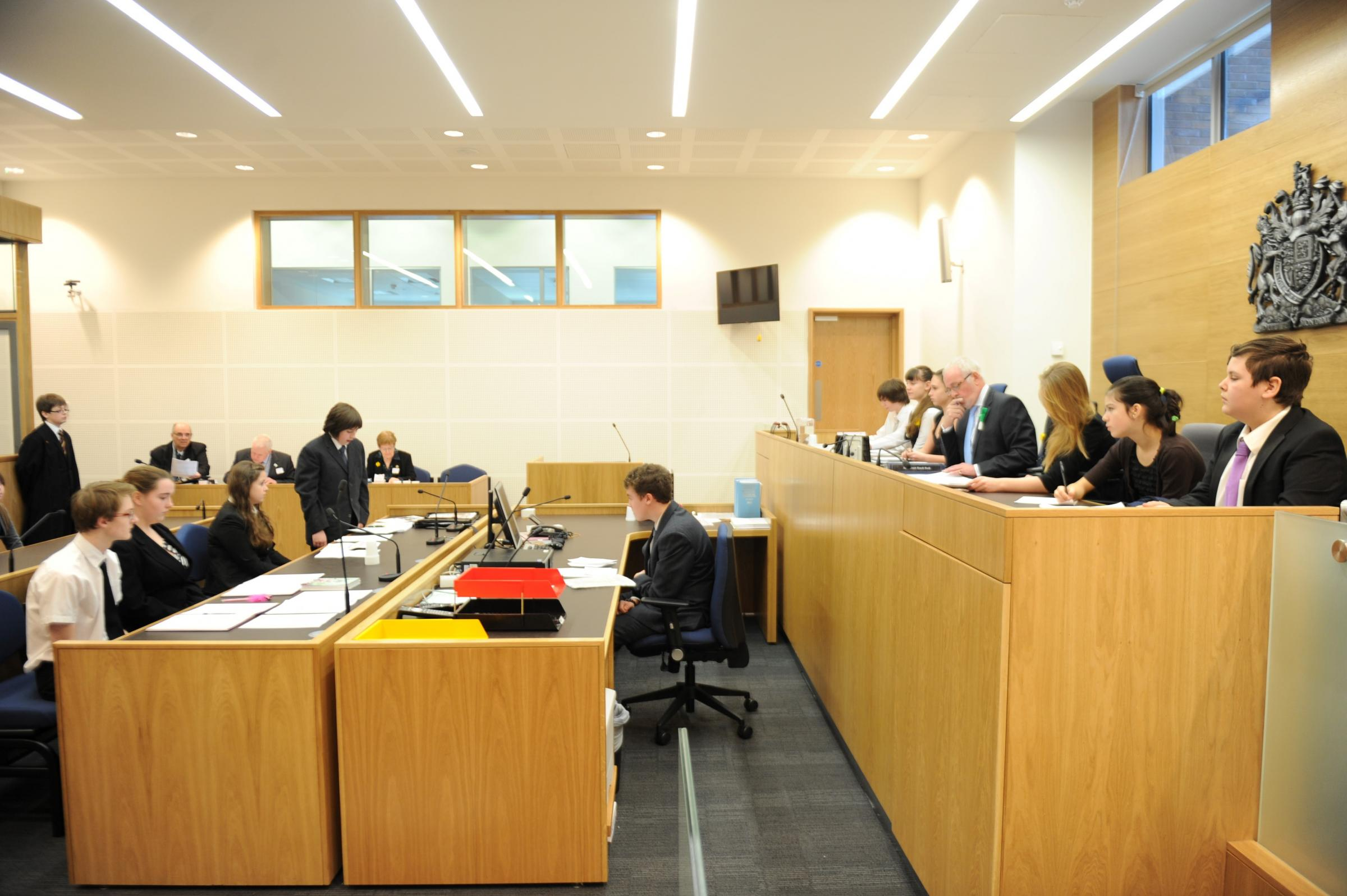 Torfaen pupils take part in mock trial | South Wales Argus