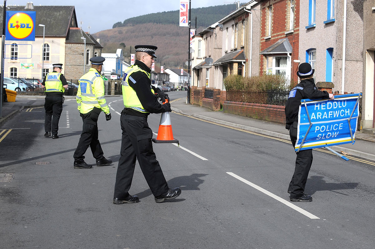 BOMB ALERT: Poice have arrested two Newport men after a bomb alert in Risca