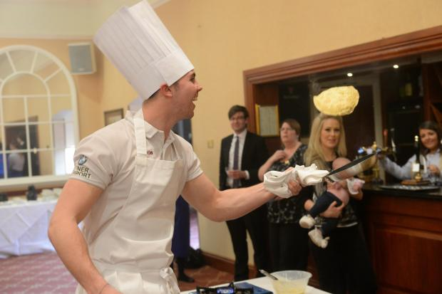 South Wales Argus: Pancake competition. County&amp