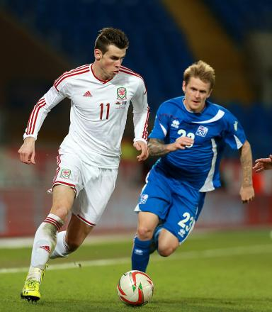 STAR MAN: Gareth Bale in action against Iceland