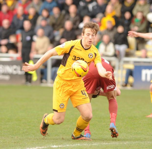 ON THE ROAD: Max Porter is keen to get away from the Rodney Parade pitch problems