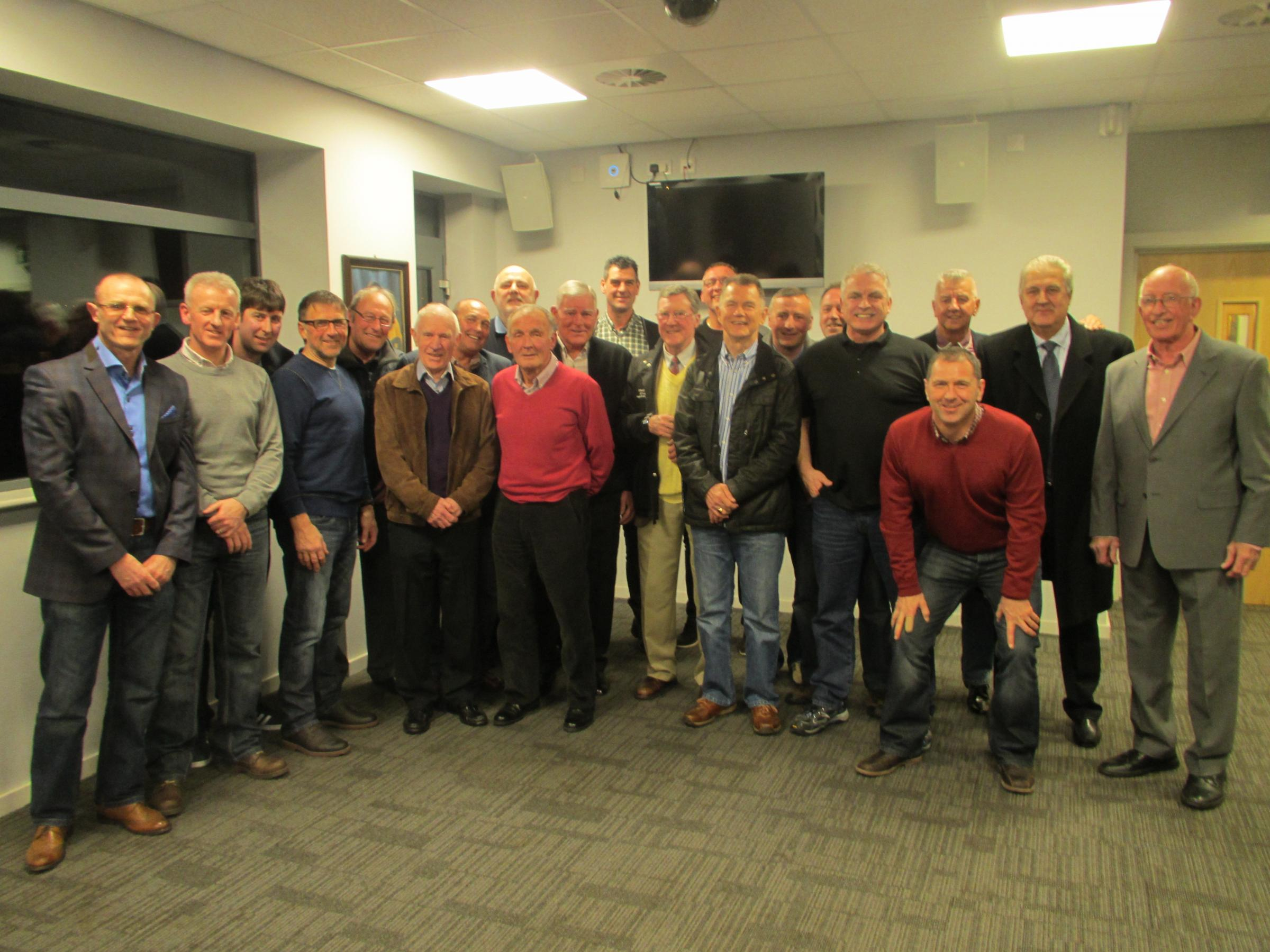 REUNION: Former County players and managers met at Rodney Parade last week