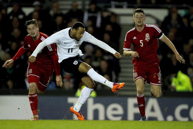 WINNER: Nathan Redmond fires home the only goal against Wales