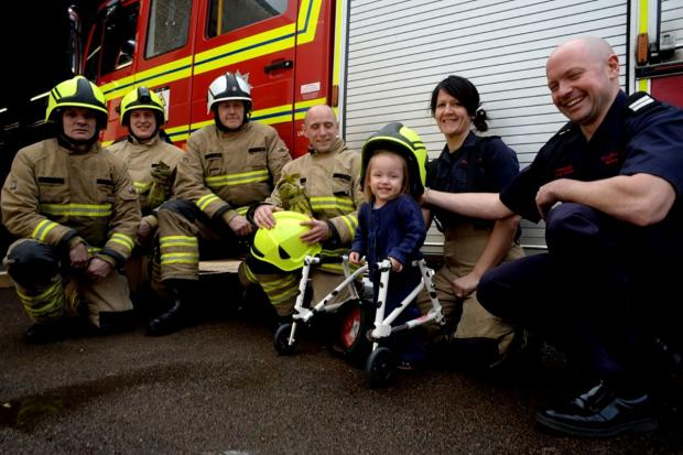Firefighters back Caldicot tot's appeal
