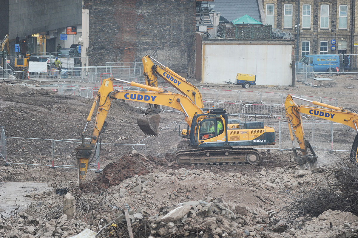 Medieval Newport friary unearthed in city centre works