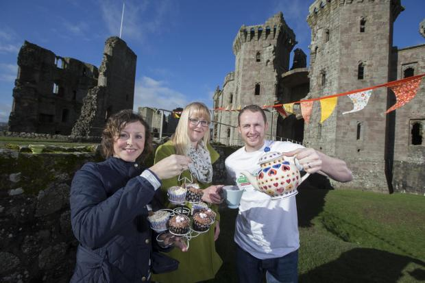 CAPTION: Raglan friends Eleri Rosier, Lucy Radley and Gwion Thorpe who will host a Big Lunch 2014 party in the village on June 1.