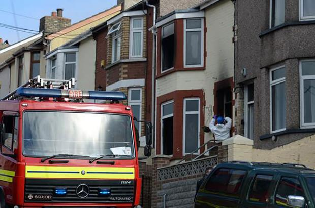 SCENE: Firefighters on Bryngwyn Road in Six Bells