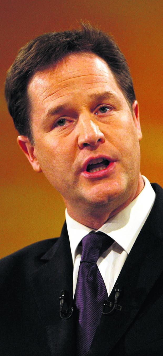 South Wales Argus: Deputy Prime Minister Nick Clegg will be in Newport