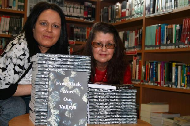 South Wales Argus: Miners' strike: Natalie Butts-Thompson, left, and Deborah Price with their book