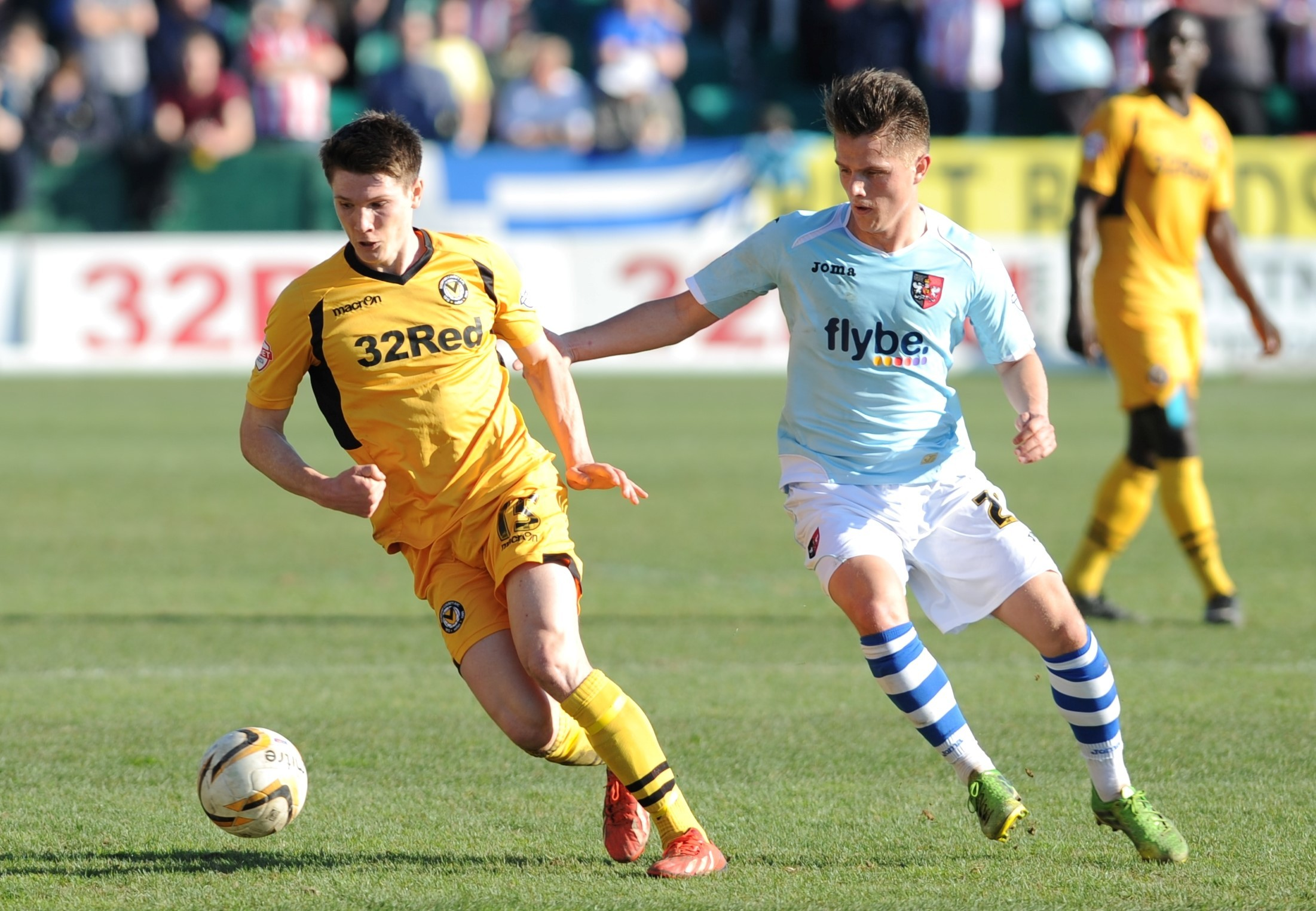 RETURN: Newport County midfielder Ryan Burge is fit to face Chesterfield today