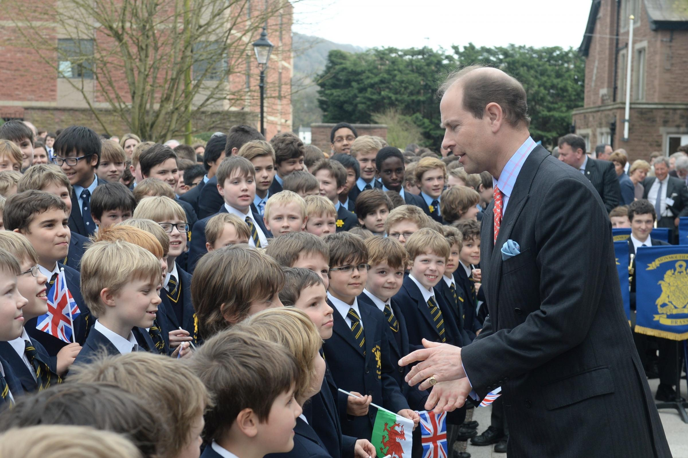 Prince Edward gets royal welcome in Gwent